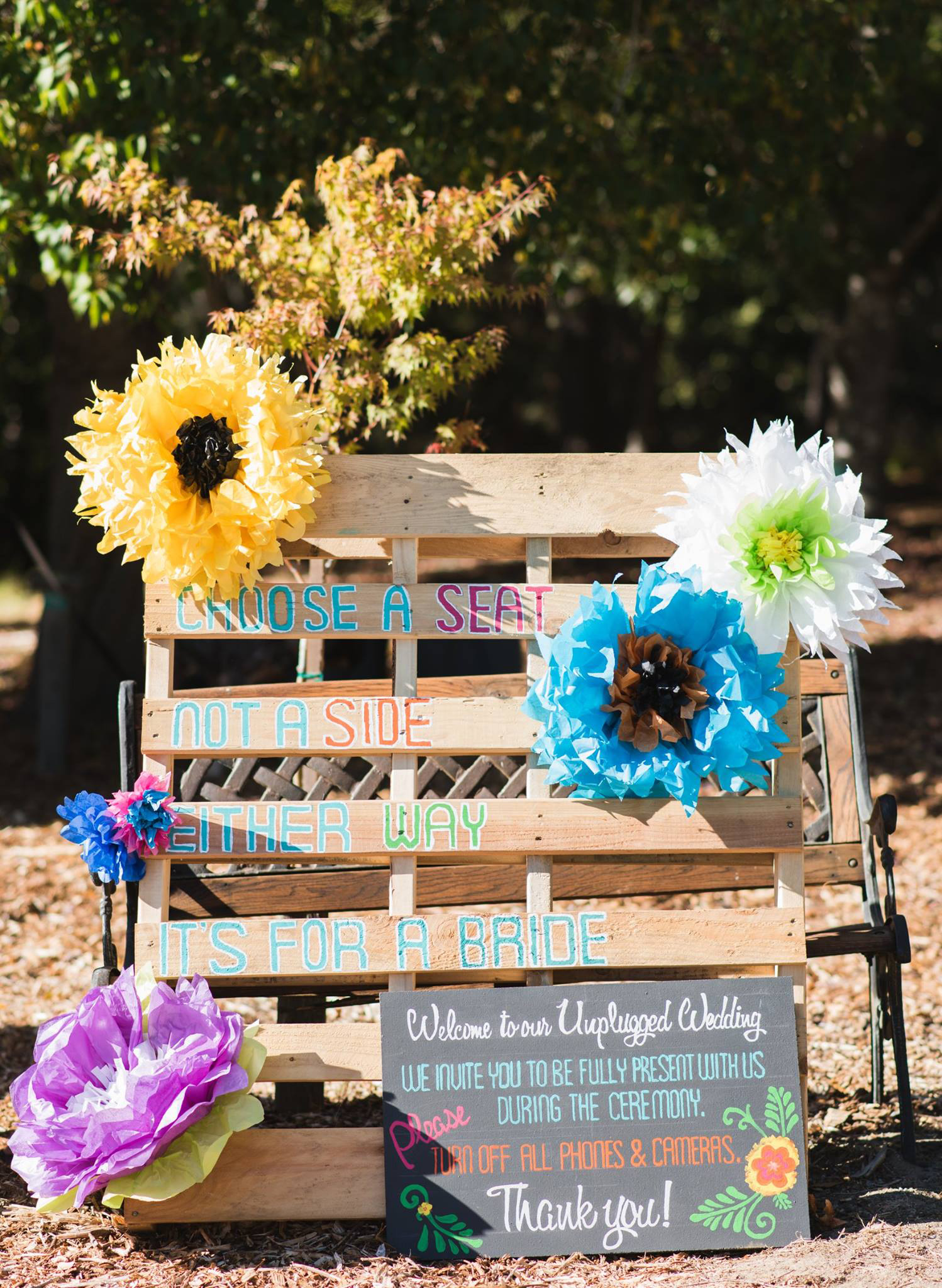 seat sign, wedding signage, DIY, DIY wedding